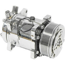 "new sanden style ac compressor ""hot rod"" chrome sd5h14 u4514 6629 6669 7 groove"
