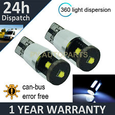 2X W5W T10 501 CANBUS ERROR FREE WHITE 3 CREE LED HILEVEL BRAKE BULBS HLBL103201