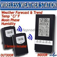 Thermomètre Hygromètre Météo sans fil Humidité Extérieure Station Temp 2 capteur