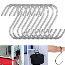 10X Stainless Steel S Design Kitchen Spoon Pan Pot Hanging Hooks Hangers Holder