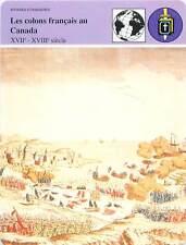 FICHE CARD Les colons français au Canada XVII-XVIIIe Terre-Neuve 1762 France 90s