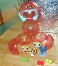 HASBRO LITTLEST PET SHOP PETRIPLETS ANIMAL TRIPLETS GERBILS COMPLETE HOME LOT
