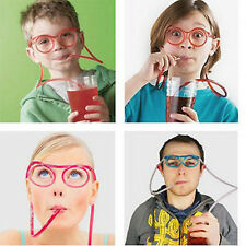 CAL Children Creative Drinking Straw Eye Glasses Silly DIY Drinking Tools Gifts