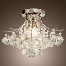 Modern Crystal Chandelier Ceiling Light Pendant Lamp For Living Room Bedroom CA8