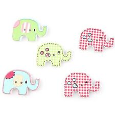 70pcs Wholesale Popular Mixed Colour Elephant Wooden Spacer Beads Findings C