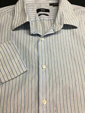 MENS BOSS HUGO BOSS REGULAR FIT BLUE WHITE CASUAL DRESS SHIRT 16.5 32/33