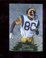 1997 CE Masters ISAAC BRUCE St Louis Rams Nitro Gold Insert Card