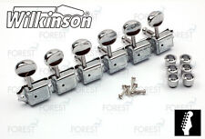 Wilkinson® deluxe WJ-55 machine heads Fender® vintage kluson style guitar chrome