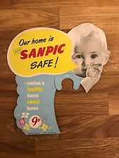 Vintage advertising - Sanpic Disinfectant - shop display cardboard Point Of Sale