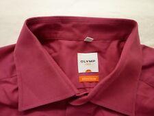 E7810 Olymp Luxor slim line Businesshemd Kombimanschette 44 dunkelrosa Unifarben