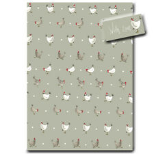 Chicken Wrapping Paper - Luxury Gift Wrap - Sage Green - Country