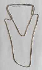 LONG SILVER BALL CHAIN STEEL METAL SILVER BALL CHAIN NECKLACE 45 CM