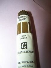 One New Tube Grumbacher Designers Gouache Deep Umber Watercolor .81fl oz