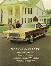 Mercury Station Wagons 1975 USA Market Foldout Sales Brochure Montego Marquis
