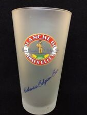 Blanche de Bruxelles Belgian Wheat Beer Glass FROSTED GLASS