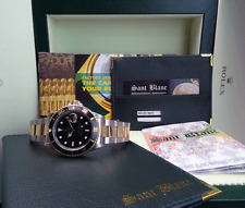ROLEX - 18kt Gold & Stainless SUBMARINER Black Index Dial - 16613  SANT BLANC