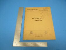 1957 Dept of the Army/ Air Force Tech Manual TM 5-742 Electrical Wiring Jan M733