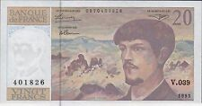 France 20  Francs  1993  P 151f  Series V. 039  Circulated Banknote