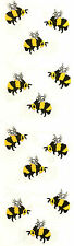 Mrs. Grossman's Stickers - Bees - Honey Bees - Bumblebee - 4 Strips
