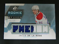 2015-16 SP Game Used Rookie Phenom PATCH BLUE Jacob De La Rose Montreal 01/25