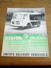SMITHS DELIVERY VEHICLES ELECTRIC DAIRY TRUCKS VAN SALES BROCHURE MID 60's