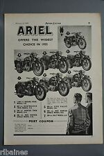 R& L Ex-Mag Advert: Ariel Huntmaster, Red Hunter, Colt Model Motorbike