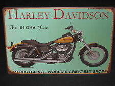 HARLEY-DAVIDSON The 61 OHV Twin new tin signage (30cm x 20cm)