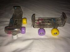 Build a Bear Rainbow Sparkle Clear Glitter Roller Skates