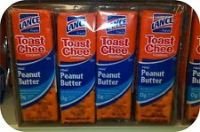 Toastchee Lance Sandwich Crackers Cheese Peanut Butter Crackers 6 pack NABS