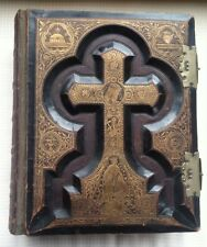 Rare  Antique 1884 Catholic Family Bible Haydock Douay Rheims . Very good cond.