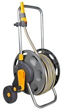 Hozelock 60m Cart With 50m Multipurpose Garden Hose Pipes Reel Watering Building