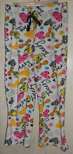 EXCELLENT WOMENS TWEETY NOVELTY PLUSH LOUNGE /  PAJAMA PANTS  SIZE M (7/9)