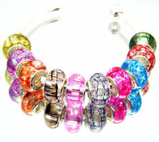 100pcs mixed crystal-clear Beautiful Resin Beads Fit European Bracelet YM05