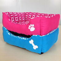 Soft Patchwork Design Medium Square Fabric Dog Pet Puppy Bed Bedding Mat