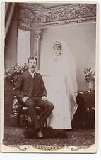 1890s Cabinet Photo of newly Married Couple from Nevada