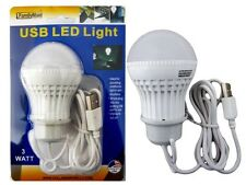 3W USB Power Natural White LED Night Light Bulb Portable Lamp Reading Outdoor