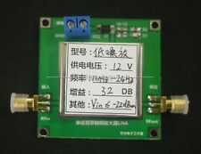 1MHz to 2GHz 32dB Low Noise Broadband RF Receiver Amplifier Signal LAN VHF UHF