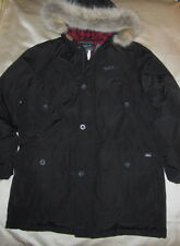 NWT WOOLRICH ARTIC PARKA Black 550 Real Down Fill Teflon DWR Sz Large