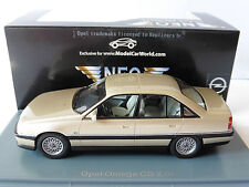 OPEL OMEGA A2 CD 2.6I FACELIFT METAL SILVER 1991 NEO 44938 1/43 BEIGE SEDAN