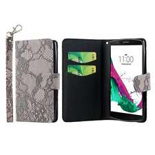 For LG G4 Phone Case Wallet Credit Card ID Flip Cover, Lace
