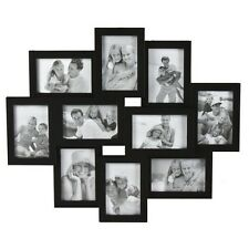 "10-Opening Collage 4""x6"" Frame - Black"