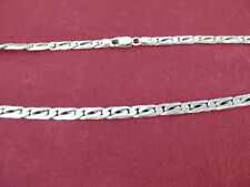 "SOLID Sterling Silver Chain necklace 925 Classic Tiger Eye22.5"" 6mm 44.9 grams"