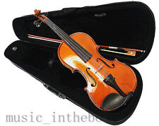Student Model - New 3/4 Solid Wood Violin +Bow+Rosin+Case+Free string set