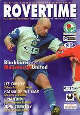 Blackburn Rovers v Man Utd 1998-1999 Treble Season Programme Manchester United