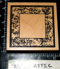 PSX ORCHID FRAME FLOWER RUBBER STAMP RETIRED