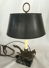 Vintage Lamp Phoenix Bird Brass Marble Electric Table Top Light Unique