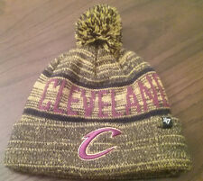 NICELY USED CLEVELAND CAVALIERS NBA BASKETBALL 47' BRAND WINTER CAP TASSEL HAT