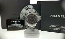 Chanel J12 Automatic Watch H2979 Grey Ceramic & Titanium 38mm Box & Papers Mint