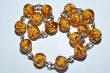 LOVELY VINTAGE VENETIAN SOMMERSO GLASS BEADS NECKLACE
