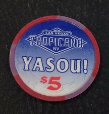 Tropicana $5 Casino Chip Las Vegas NV H&C Paulson Yasou Greek 1996 FREE SHIPPING